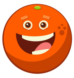 Cartoon orange fruit character vector
