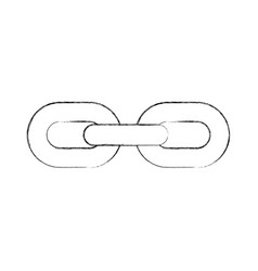 chain metal isolated icon vector image
