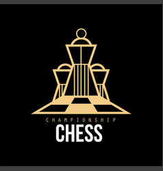chess championship logo design element for vector image