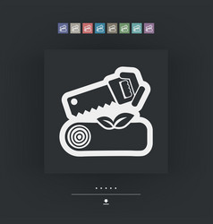 chopped wood vector image