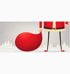 christmas composition feet and hands santa vector image