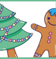 christmas cute cartoons vector image