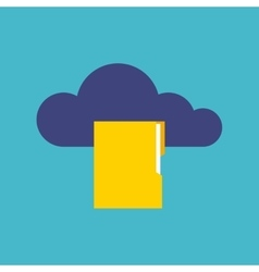 Cloud computing flat isolated icon vector