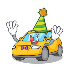 Clown taxi character mascot style vector