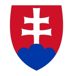 coat of arms of Slovakia vector image