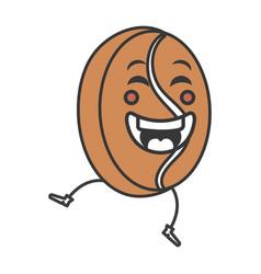 Coffee grains kawaii character vector