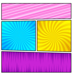 Comic book page super background vector