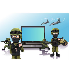computer protection vector image