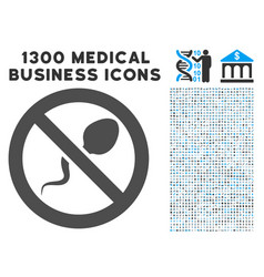 contraception icon with 1300 medical business vector image