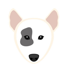 Cute bull terrier dog avatar vector