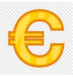 Euro icon cartoon style vector