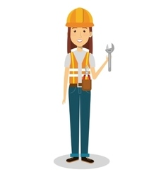 Female builder avatar character vector