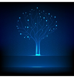 Fibre optical tree vector image