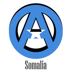 flag of somalia of the world in the form of a vector image