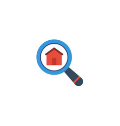 flat icon search real estate element vector image