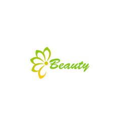 Flower abstract beauty logo vector