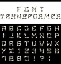 Font transformer vector