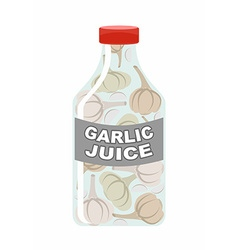 Garlic juice Juice from fresh vegetables Garlic in vector image