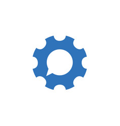 Gear chat consult support logo icon stock vector