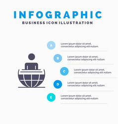 global process business international modern vector image