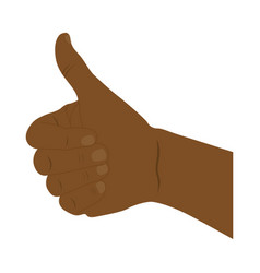 hand all good dark skin icon vector image