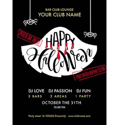 Happy Halloween Party lettering typography vector image