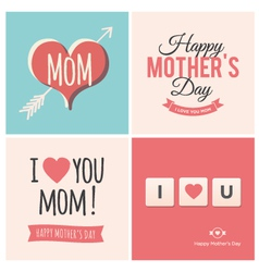 Happy mothers day cards vector image