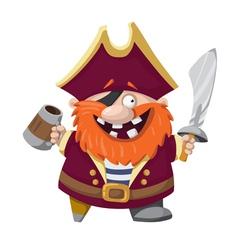 Happy pirate vector