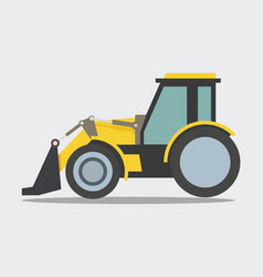 Heavy duty construction equipment loader vector