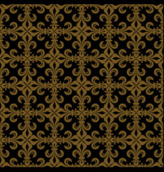 Lace-de-luce lace of lilies rich bronze vector
