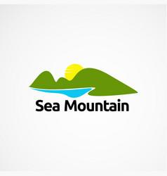 Lake mountain logo designs concept icon element vector