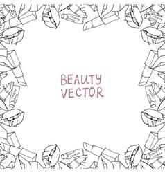 Makeup products Cosmetics vector