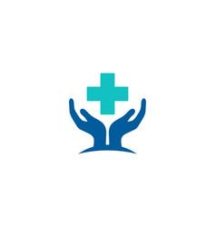 medical care logo icon design vector image