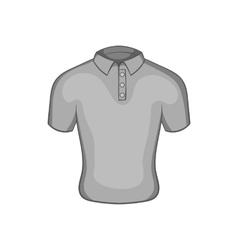 Mens polo icon black monochrome style vector image