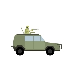 Military war car flat icon vector image