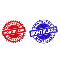 montblanc round and rosette seals with rubber vector image