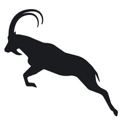 mountain goat silhouette vector image