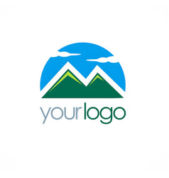 mountain logo vector image