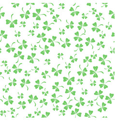 Natural chamrock texture clover leaves vector