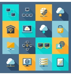 Network Icons Flat vector image