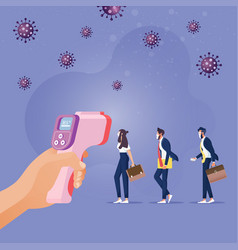 new normal social distancing lifestyle vector image