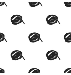Painted eyebrows icon in black style isolated on vector