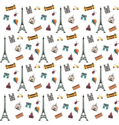 Paris pattern vector image