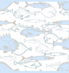 pattern fish 2 vector image