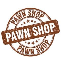Pawn shop brown grunge round vintage rubber stamp vector