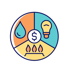 Paying bills rgb color icon vector