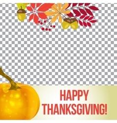 Photo frame for thanksgiving autumn vector