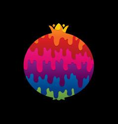 pomegranate fruit vector image