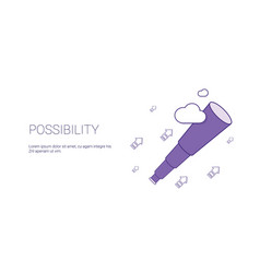 possibility web banner with copy space business vector image