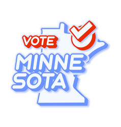 Presidential vote in minnesota usa 2020 state vector
